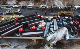Tai nạn giao thông liên hoàn tại Trung Quốc khiến 18 người thiệt mạng