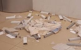 Trần nhà bệnh viện nghìn tỷ đổ sập, bệnh nhân hốt hoảng bỏ chạy