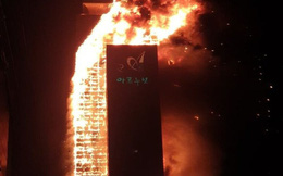 Hàn Quốc: Tòa nhà 33 tầng bốc cháy như ngọn đuốc khổng lồ, ít nhất 13 người bị thương