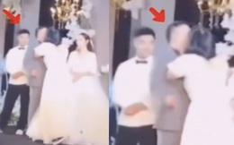 Phù dâu lao ra cưỡng hôn chú rể trước sự ngỡ ngàng của quan khách, dân tình chỉ chăm chăm chú ý phản ứng của cô dâu