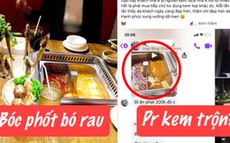 Cú twist không ngờ của drama ăn buffet phạt 200k rau muống: Netizen phát hiện thực khách đăng ảnh phốt quán lẩu để PR kem trộn?