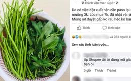 Nam sinh đăng bài bán bó rau muống 3k mà vẫn ầm ầm người mua, tất cả nhờ lý do siêu hài