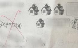 Đề bài: 'Có 4 nhà, mỗi nhà có 4 con thỏ. Hỏi tổng cộng có bao nhiêu con', đáp án 16 là sai?