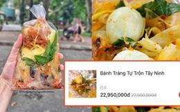 """Xôn xao bịch bánh tráng trộn có giá gần… 23 triệu trong ngày sale 11/11: """"Ai mua nổi hả trời?"""""""