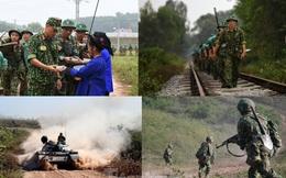 Bộ binh chủ lực thực hành chiến đấu ở địa hình trung du