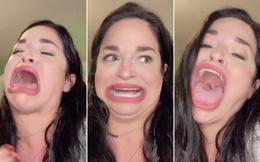 """Khoe khuôn miệng rộng tới 8,89cm, cô gái """"kiếm tiền như nước"""""""