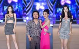Vợ chồng đạo diễn Hoàng Nhật Nam tình tứ trên sân khấu đêm thi Người đẹp biển