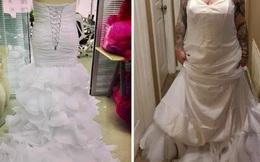 Đặt váy cưới nhưng hàng về mặc lên không khác gì quấn chăn, cô dâu phàn nàn với shop rồi nhận được phản hồi khiến ai cũng cười đau ruột