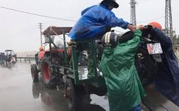 Di chuyển qua đoạn đường ngập lũ, xe công nông bị lật khiến nữ sinh viên tử vong