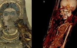 Máy quét CT phát hiện sự thật rùng rợn bên trong bức tượng dát vàng