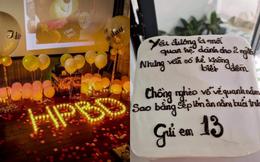Chồng tổ chức sinh nhật cho nhân tình, vợ đặt bánh kem mang đến kèm theo dòng chữ thâm thúy