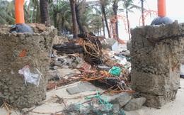 Bãi biển 'đẹp nhất hành tinh' tan hoang sau bão số 13