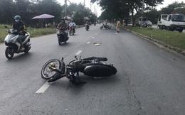 Trung tá CSGT ở Sài Gòn bị thanh niên lái xe máy tông nhập viện