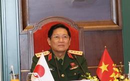 Đại tướng Ngô Xuân Lịch điện đàm với Bộ trưởng Bộ Quốc phòng Nhật Bản
