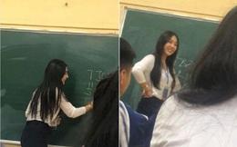 """Bị chụp lén khi đang say sưa giảng bài, cô giáo trẻ khiến dân mạng """"ngẩn ngơ"""" vì quá đỗi xinh đẹp"""
