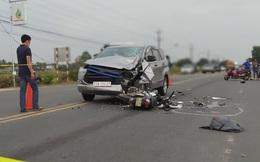Ô tô lấn làn đâm trực diện vào xe máy khiến 2 người tử vong ở Tây Ninh