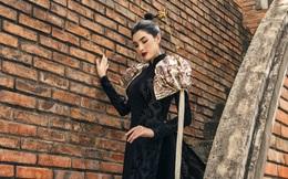 Nhan sắc Tuyết Trần trong tà áo dài của NTK Nhật Dũng