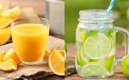 Nước chanh và nước cam: Nước nào giàu dinh dưỡng và tốt hơn cho người uống?