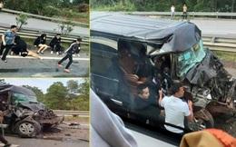 Xe Limousine đâm đuôi xe đầu kéo trên cao tốc Nội Bài - Lào Cai khiến 8 người bị thương