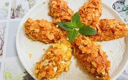Đổ bim bim vào cánh gà, cả nhà được món ngon giòn rụm