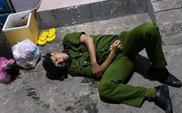 Trung uý công an bị gãy tay khi khống chế kẻ ngáo đá ở Sài Gòn