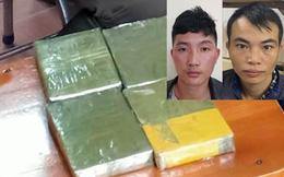 Hai đối tượng vận chuyển 4 bánh ma túy trong bao tải gạo