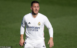 'Bom tấn' Eden Hazard lại gặp hạn ở Real Madrid