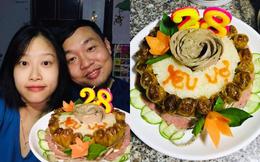 """Dùng nguyên liệu """"chưa từng có"""" làm bánh sinh nhật lúc 12 giờ đêm, chồng khiến vợ không khỏi kinh ngạc"""