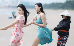 Thí sinh HHVN 2020 kéo lưới cùng ngư dân trên bãi biển Vũng Tàu