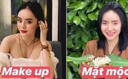 Em gái Angela Phương Trinh ngày càng chăm để mặt mộc, so với lúc make up đúng là khác toàn tập