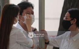 Vợ chồng Trường Giang - Nhã Phương khóc nấc từng cơn, tựa vào nhau vì đứng không vững tại tang lễ NS Chí Tài