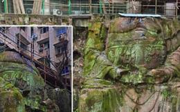 Tượng Phật khổng lồ ngàn năm lộ diện bên dưới chung cư ở Trung Quốc