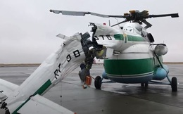 Trực thăng Mi-8 gãy đuôi khi hạ cánh