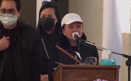 Tang lễ nghệ sĩ Chí Tài tại Mỹ: Hương Lan òa khóc, nói ra mối nợ ân tình rất lớn