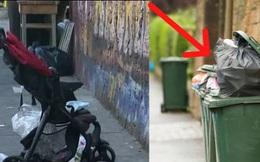 """Đẩy con gái 2 tuổi trong xe nhưng cảnh sát lại tìm thấy quần áo của bé bị ném trong thùng rác, vạch trần tội ác kinh hoàng của bà mẹ """"ác quỷ"""""""