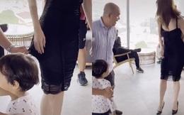 Phản ứng của Ngọc Trinh khi Quốc Thuận có hành động trêu đùa kéo váy