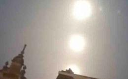 """Xuất hiện """"3 mặt trăng khổng lồ lạ lùng"""" trên bầu trời và biến mất trong chốc lát"""