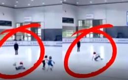 Cô bé 8 tuổi ngã sõng soài trên sân băng được hơn 4 triệu like, nhiều người không hiểu vì sao cho đến khi xem xong clip