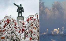Loạt hình ảnh trong mùa đông khắc nghiệt, băng tuyết trắng xoá ở nước Nga chỉ nhìn thôi cũng đủ thấy rét run cầm cập