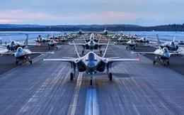 """30 máy bay F-35, F-16 Không quân Mỹ """"dàn trận"""" sẵn sàng xuất kích: Chuyện gì đang xảy ra?"""