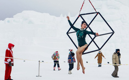 24h qua ảnh: Vũ công trình diễn ngoài trời giá lạnh ở Trung Quốc