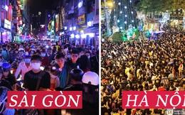 Hai tụ điểm đông nhất Hà Nội - Sài Gòn đêm Noel vừa xong: Bà hàng nước đóng cửa sớm vì chật quá bán không nổi