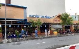 TP.HCM: Quán hải sản cháy dữ dội sau tiếng nổ, nhân viên nhà hàng tiệc cưới bên cạnh dập lửa giúp