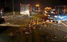 Xe tải nổ lốp gây họa trên cao tốc TPHCM - Trung Lương