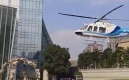 Choáng với giá 1 chai nước trong đám cưới rước dâu bằng trực thăng
