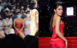 Cô gái mặc váy đỏ, không được mời vẫn ngồi ghế VIP ở show Đỗ Long là ai?