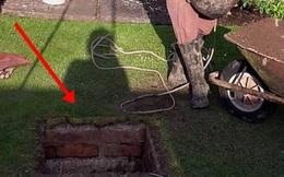 Cải tạo vườn nhà, cụ ông phát hiện hố ga có tuổi đời hàng chục năm trước khi ra tay biến hóa nó khiến ai cũng xuýt xoa