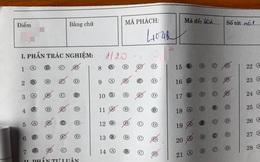 Đỉnh cao của số nhọ: Khoanh trắc nghiệm chỉ đúng 1/20 câu, điểm tổng của bài kiểm tra còn sốc hơn
