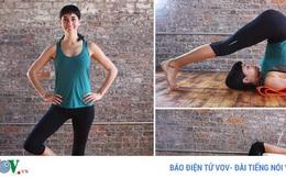 Những động tác yoga đơn giản giúp chị em có đôi chân thon thả