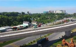 Flycam: Toàn cảnh tuyến Metro số 1 Bến Thành - Suối Tiên đang gấp rút hoàn thiện